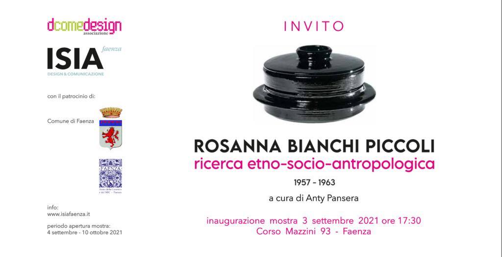 Mostra Rosanna Bianchi Piccoli. Ricerca etno-socio-antropologica 1957-1963